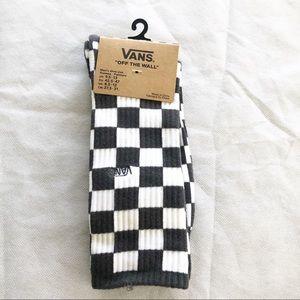 Vans   Gray and White Checkered Socks
